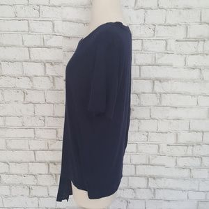 Michael Kors Tops - Michael Kors Basics Tie Front Navy Shirt Top